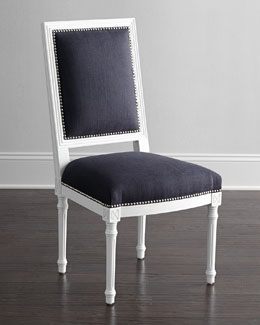 Jonathan Adler Navy Louis Side Chair