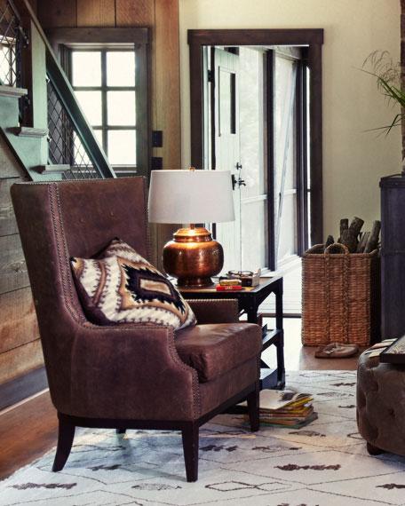Oak Leather Chair