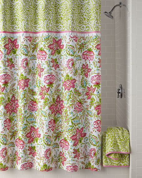 Dena Home Floral Ikat Shower Curtain