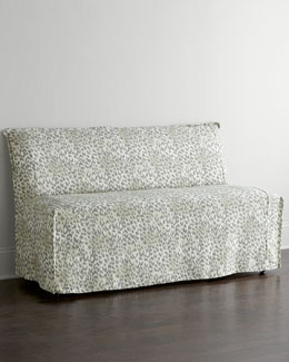 Lee Industries Washed Leopard Banquette