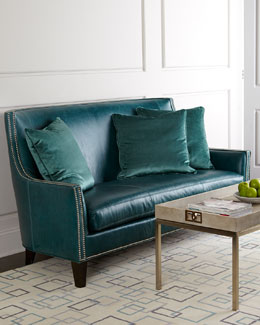 Massoud Sea Isle Leather Sofa