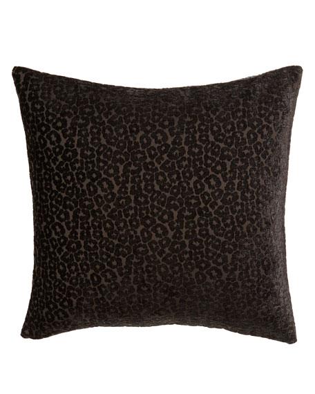 "Anastasia Cheetah-Pattern Pillow, 20""Sq."