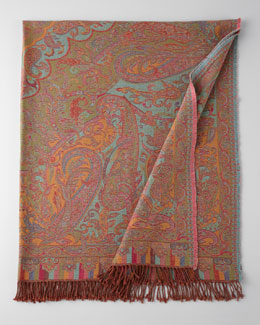 Sabira Kannur Paisley Wool Throw