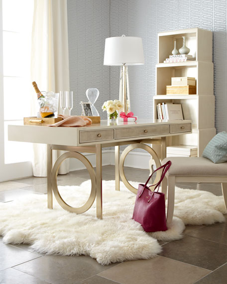 21 Feminine Home Office Designs Decorating Ideas: Bernhardt Anjali Writing Desk