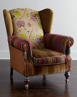 MacKenzie-Childs Bittersweet Wing Chair