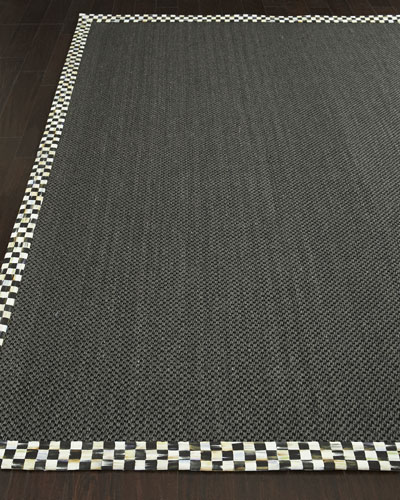 Courtly Check Black Sisal Rug  3' x 5'