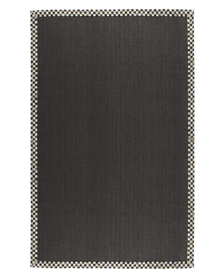 Courtly Check Black Sisal Rug, 6' x 9'