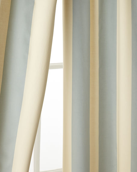 "Each 50""W x 96""L Madeline Striped Curtain"
