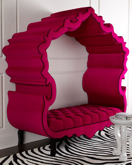 Hot Pink Thebes Bench