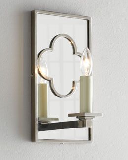 VISUAL COMFORT Rectangular Quatrefoil Bath Sconce