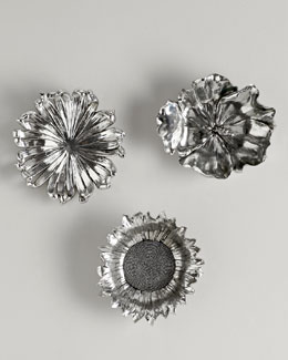 Three Silvery Flowers