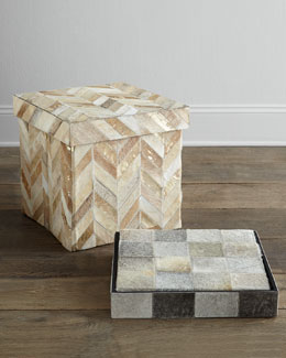 NM EXCLUSIVE Herringbone Storage Cube