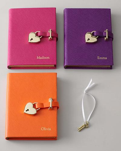 Saffiano Lock Diary