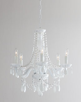 Chantal White Glass Chandelier