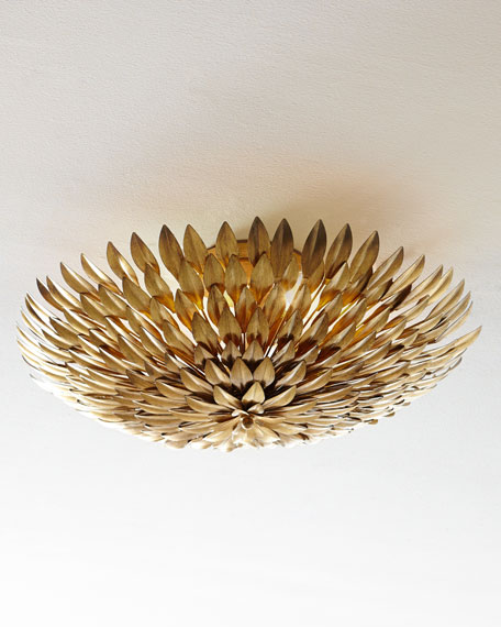 gold flush mount light large golden mum flushmount light fixture