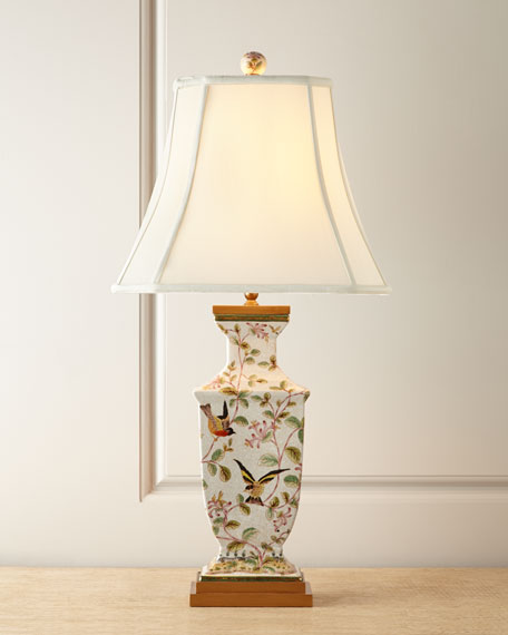 Perfect Chinoiserie Porcelain Lamp