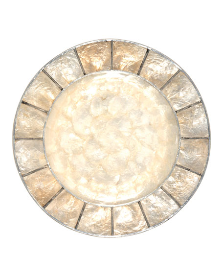 Natural Capiz Charger Plate