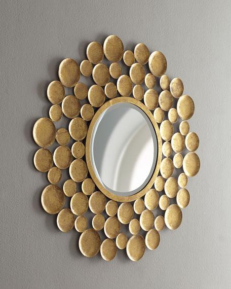 Champagne Circles Mirror