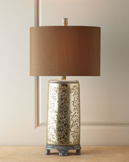 John-Richard Collection Silvery Chinoiserie Lamp
