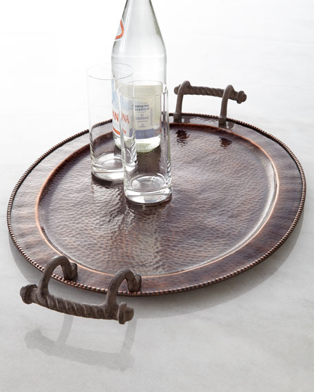 "Large Oval ""Antique Copper"" Tray"
