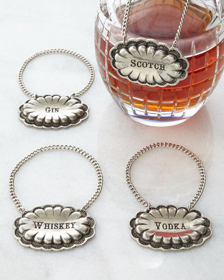 Four Decanter Tags