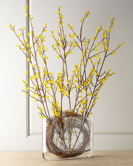 Faux Forsythia Arrangement