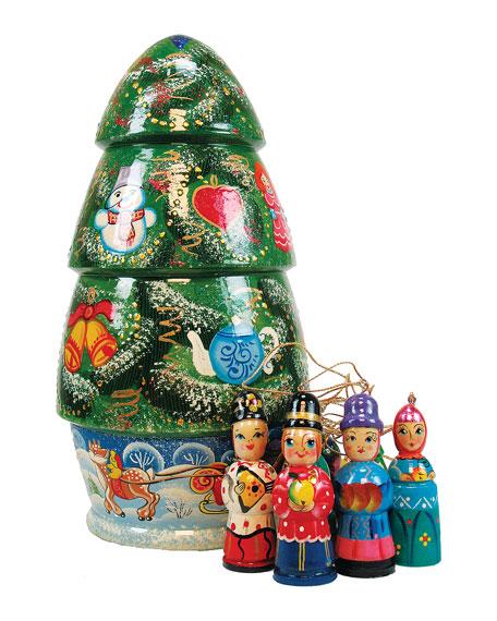 Christmas Tree Nesting Dolls