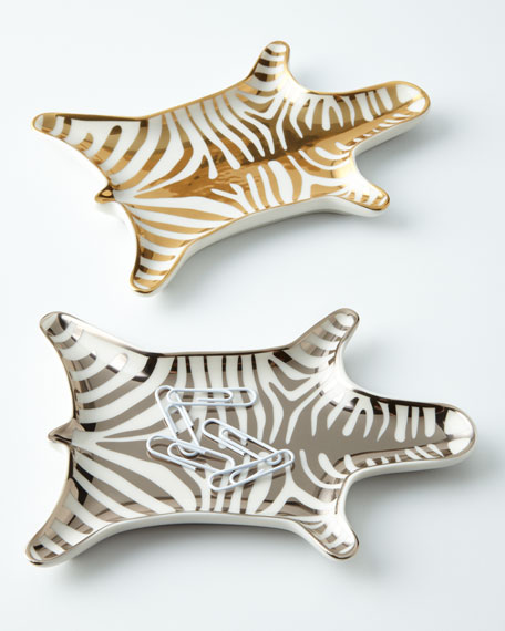 Chic zebra dishes
