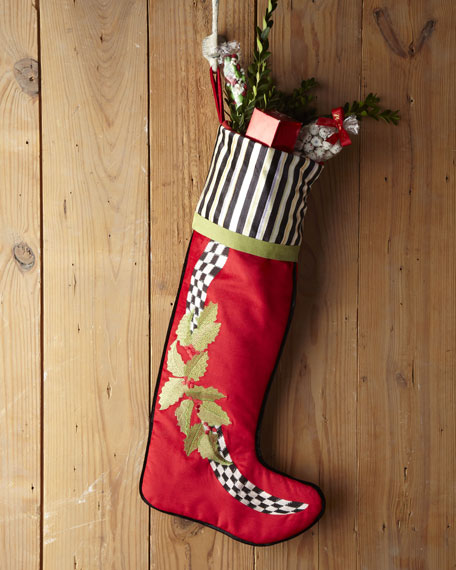 Holly & Berry Christmas Stocking