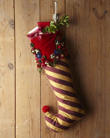 Marzipan Large Stripe Christmas Stocking