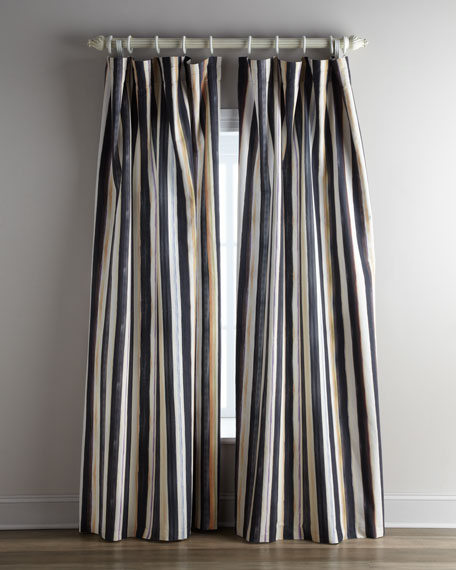 "Each 54""W x 96""L Courtly Stripe Curtain"