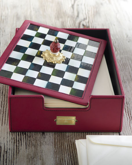 Courtly Check Desk Box