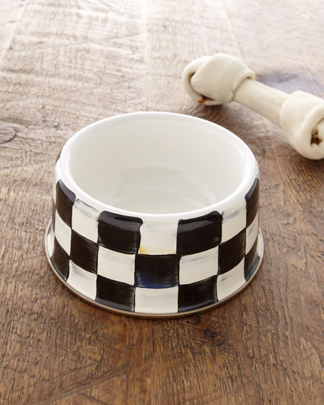 Medium Courtly Check Pet Bowl