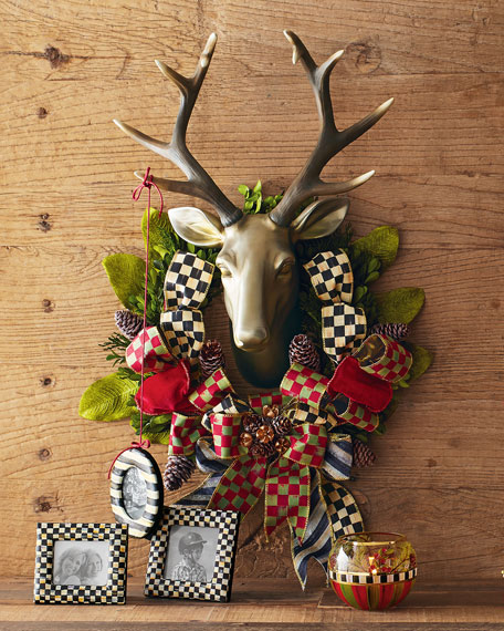Orchard Check Stag Wreath