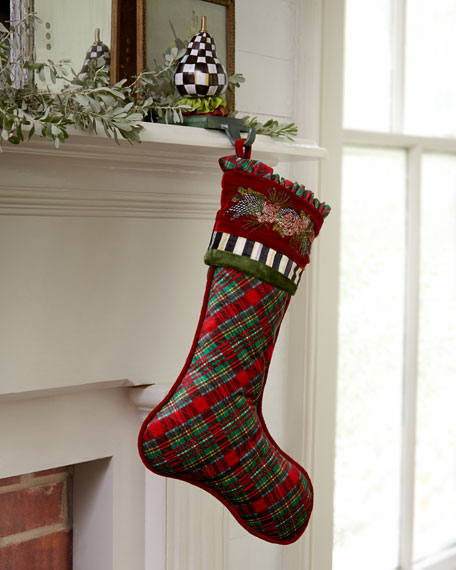 Holiday Tartan Christmas Stocking