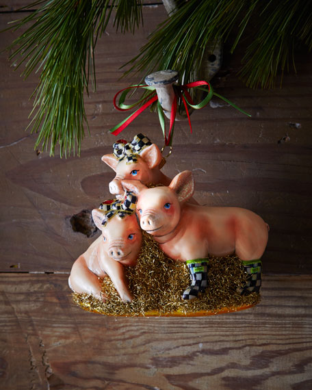 Three Little Pigs Christmas Ornament