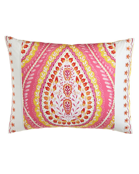 Standard Quilted Sham with Embroidered Inset