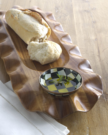 Courtly Check Bread & Oil Platter
