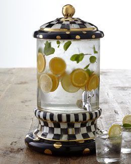 MacKenzie-Childs Courtly Check Beverage Dispenser
