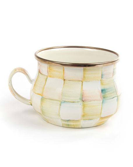 Parchment Check Teacup