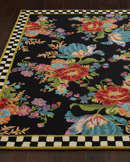 MacKenzie-Childs Flower Market Rug, 9' x 12'