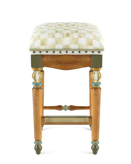 Parchment Check Barstool