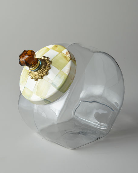 MacKenzie-Childs Parchment Check Cookie Jar