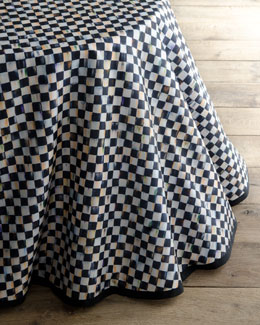 Courtly Check Round Table Skirt