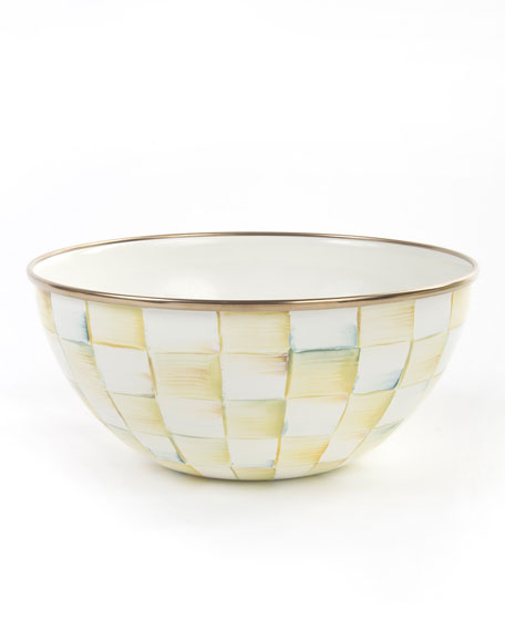 Parchment Check Five Cup Everyday Bowl