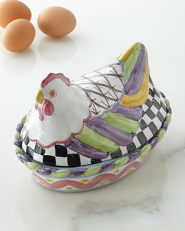 "MacKenzie-Childs ""Nesting Chicken"" Dish"