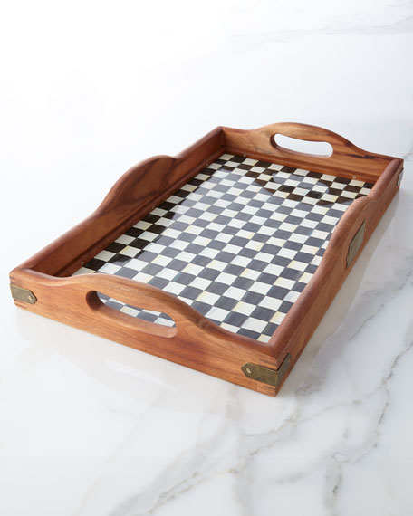 Large Courtly Check Hostess Tray