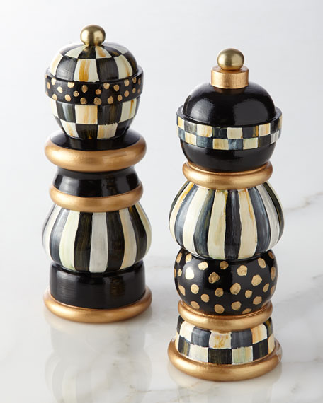 Mackenzie Childs Courtly Check Salt Amp Pepper Mill Set