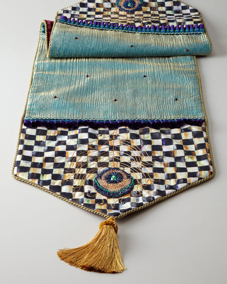 Jeweled Peacock Table Runner