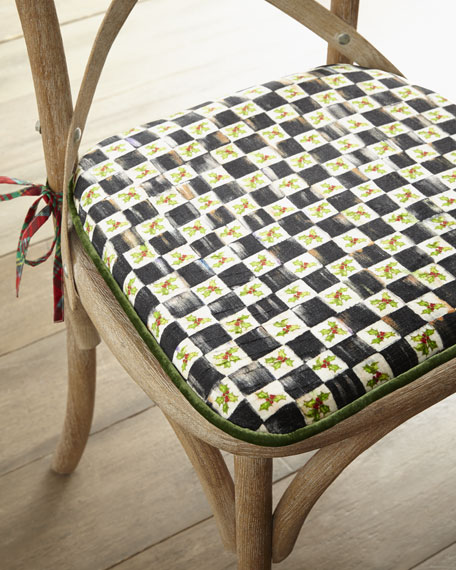 Holiday Tartan Dining Cushion